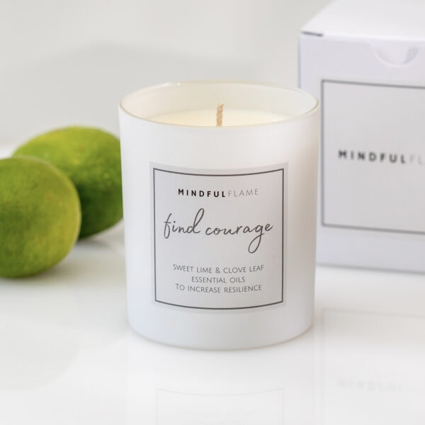 find courage wellbeing candle