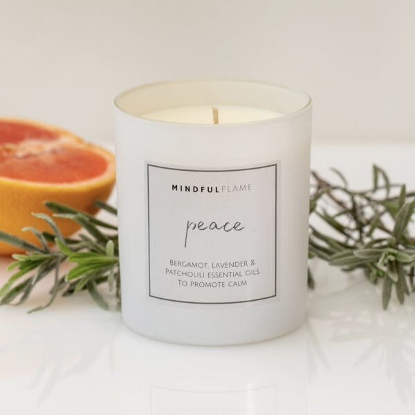 peace wellbeing candle