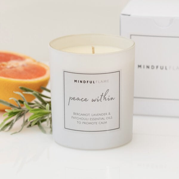 peace within wellbeing candle