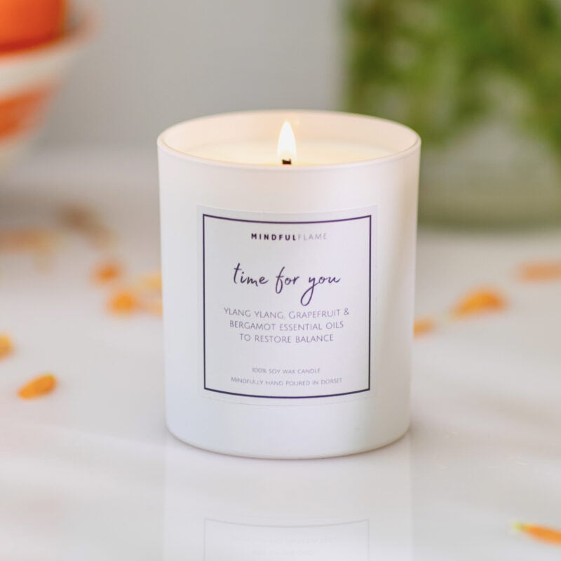 time for you wellbeing candle
