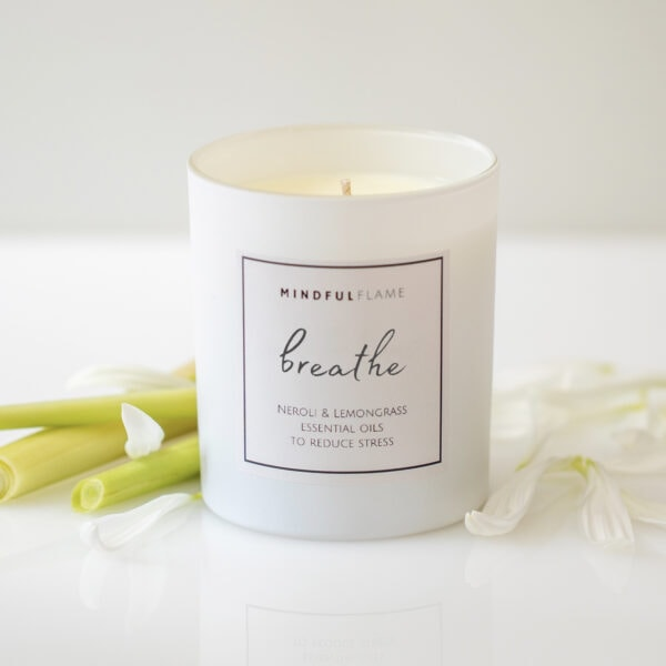breathe wellbeing candle