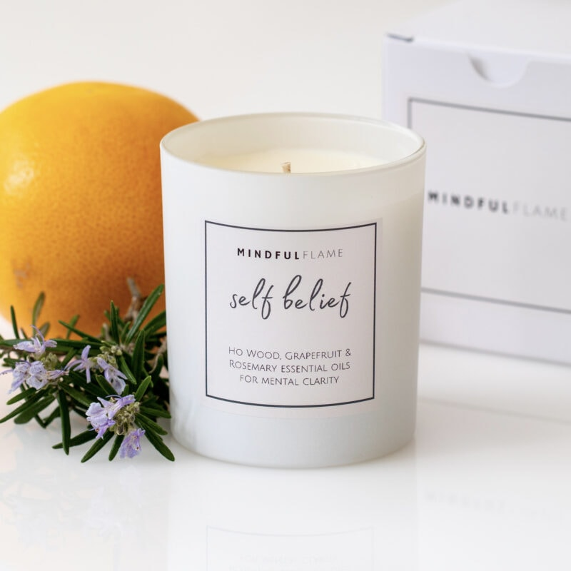 self belief wellbeing candle