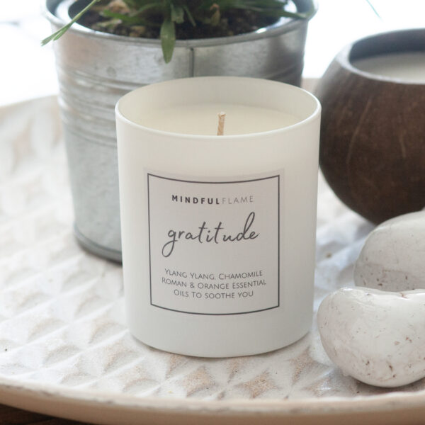 gratitude wellbeing candle